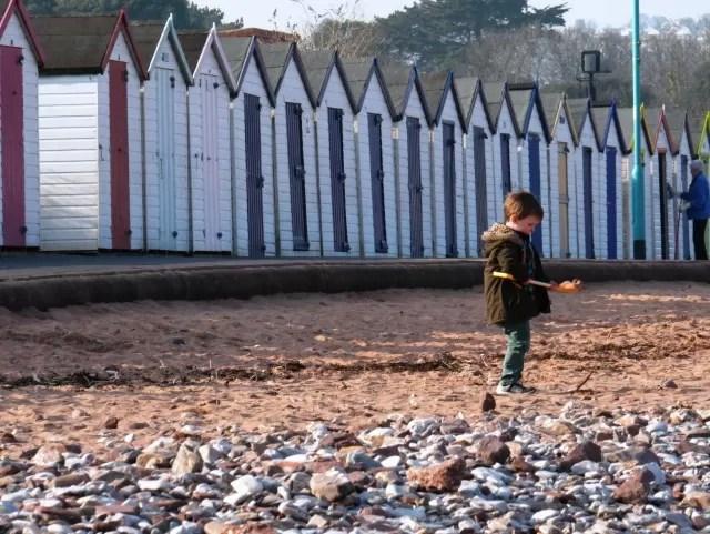 beach huts at Goodrington