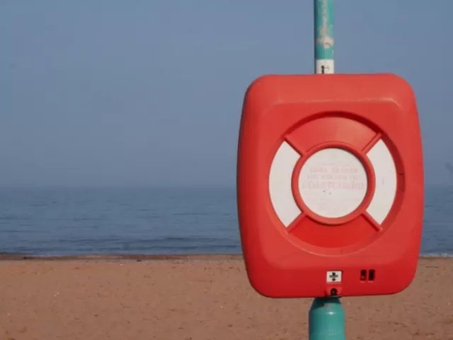 coastguard details at Goodrington Beach