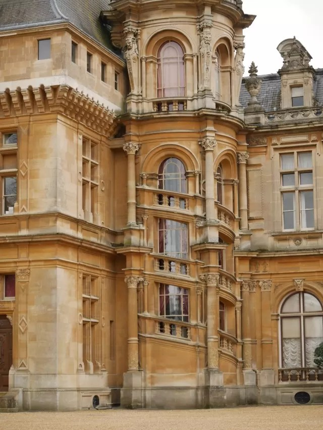 swirly turret windows at Waddesdon Manor