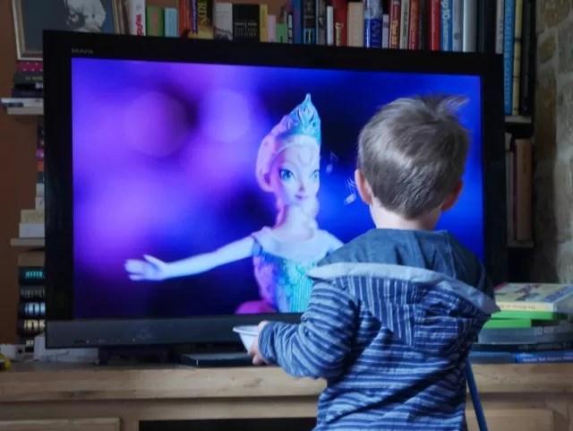 Watching Frozen adverts