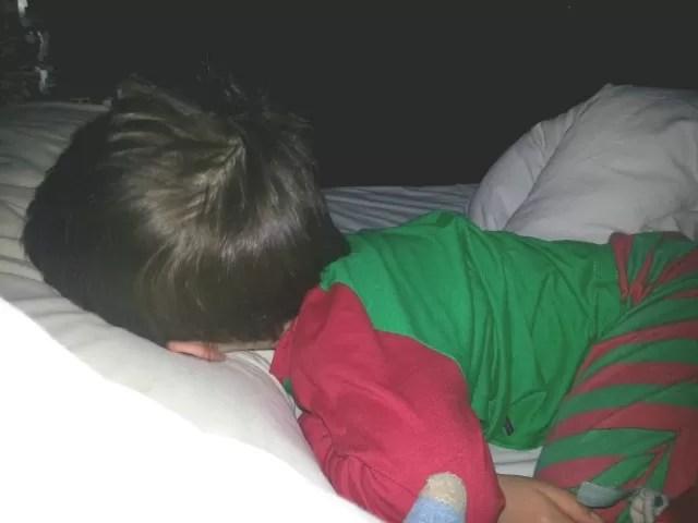 The face plant sleep position