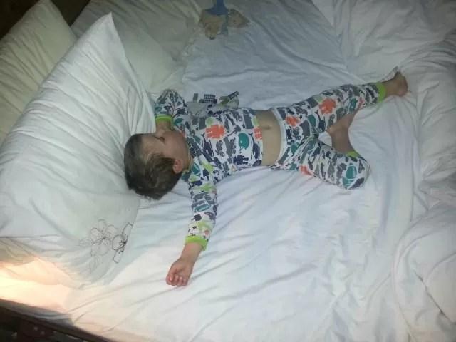 The starfish (or ballet dancer) sleep position