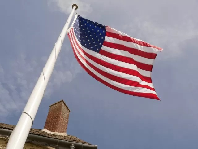 US flag at Sulgrave Manor