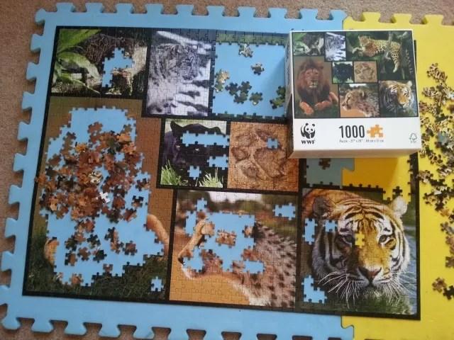 WWF 1000 piece big cat jigsaw