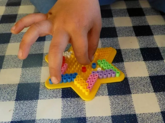 making a Hama bead star