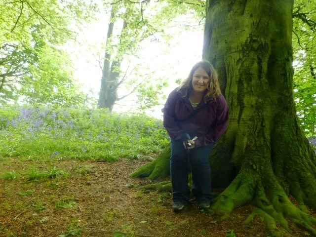 portrait of mummy in the bluebell woods