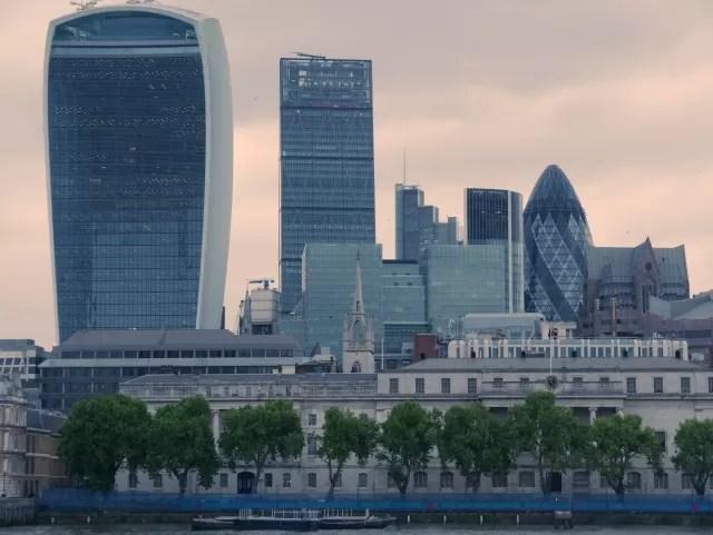 London skyline from HMS belfast