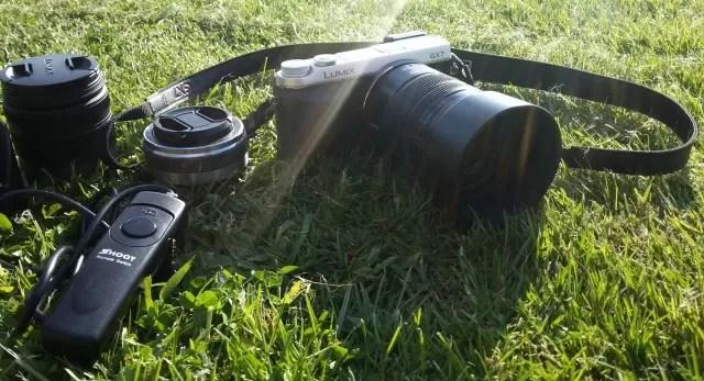 Panasonic Lumix GX7 plus lenses in the sun