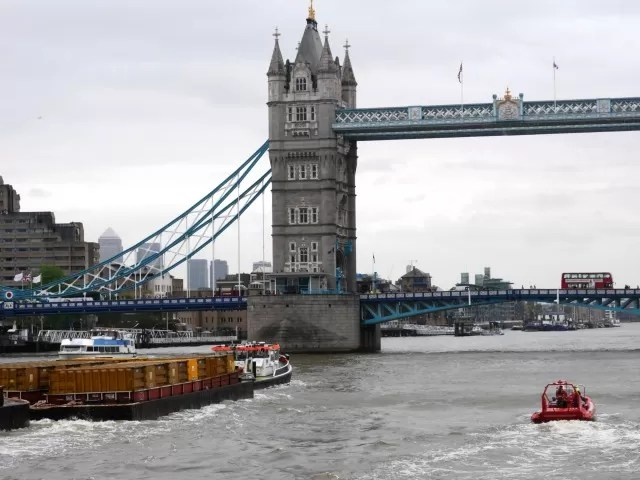 Tower bridge and jet boats