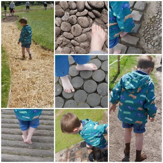 barefoot walk at Trentham Gardens