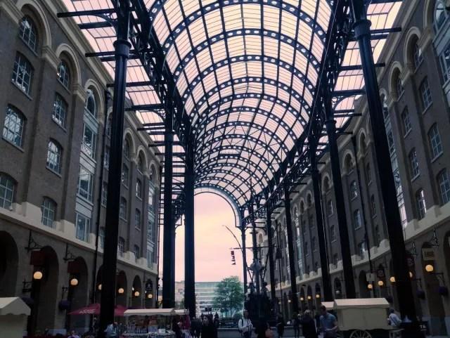 ceiling in Hays Galleria London