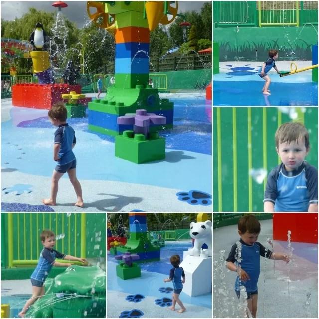 playing in Duplo Valley splashzone