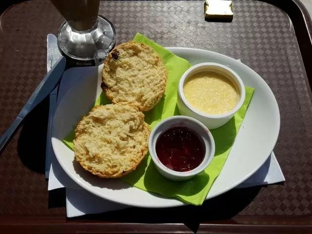 Dorset cream tea scones