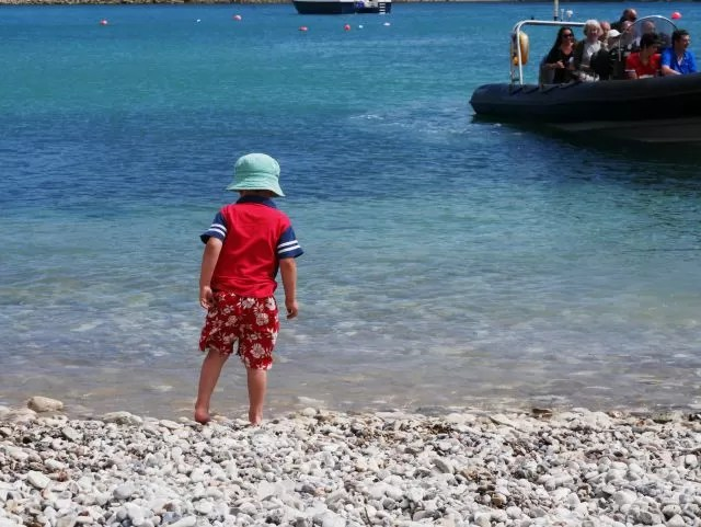 Paddling at Lulworth Cove