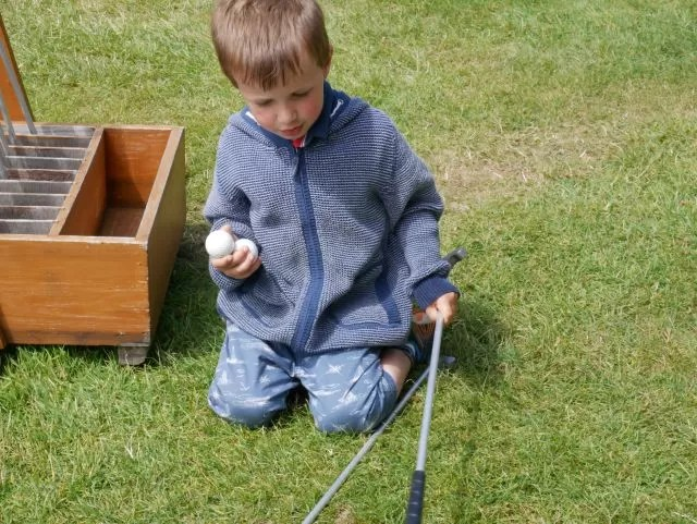 Put and Pitch golf at Lulworth Castle