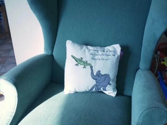 Roald Dahl Enormous crocodile cushion