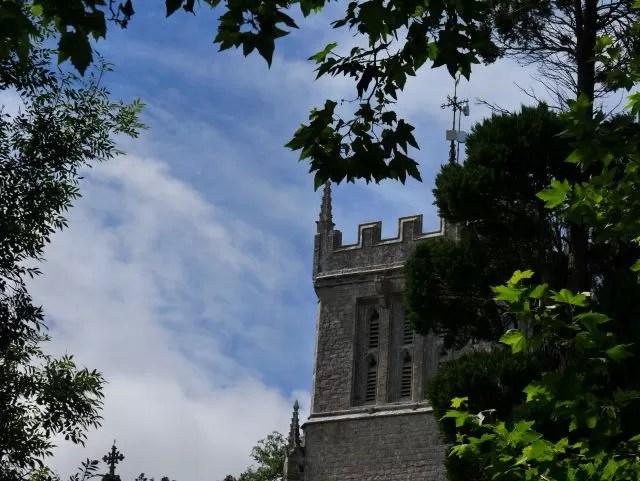 The church at Lulworth castle