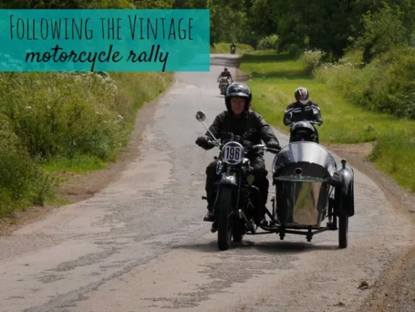 following the vintage motorcycle rally