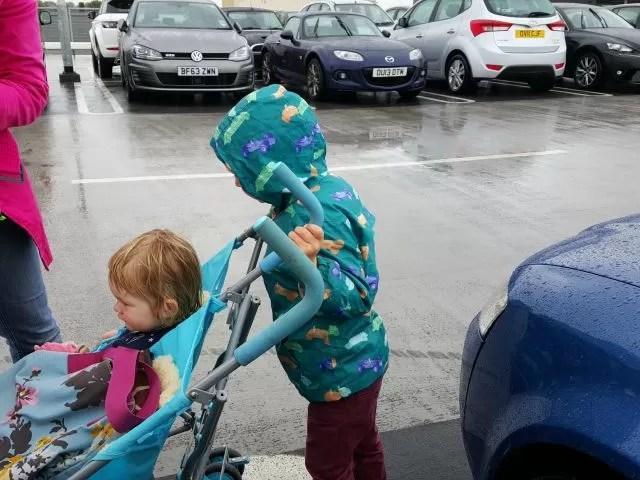 pushing the buggy