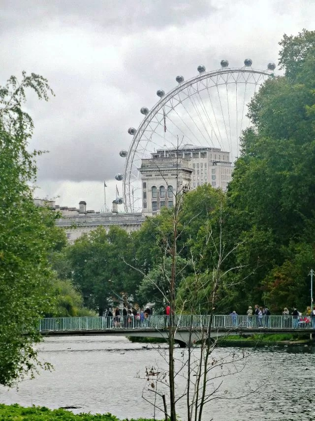 London Eye over St James Park