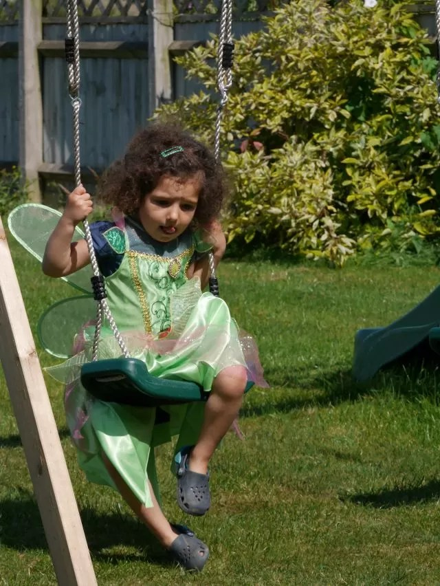 Tinkerbell on a swing