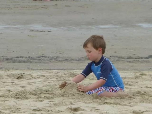 Sand castles on Weymouth beach