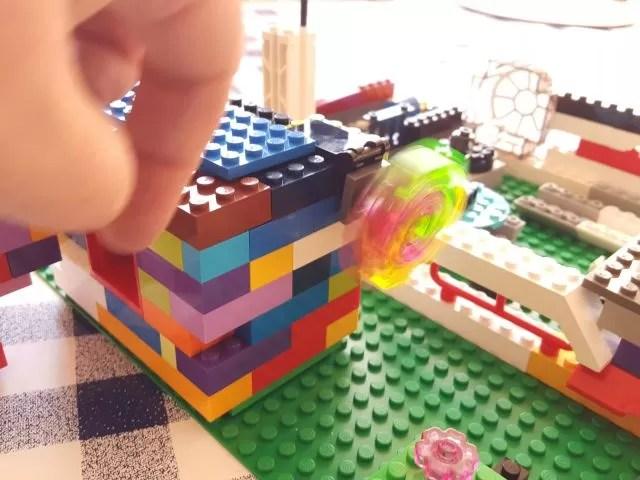 rotating lego disco ball on his dream house