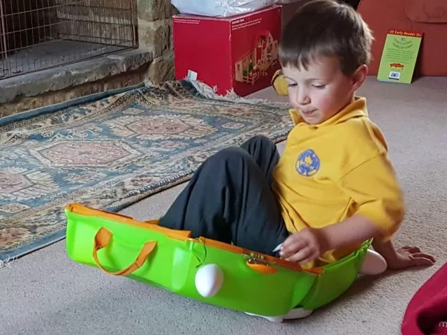 going on holiday with Trunki
