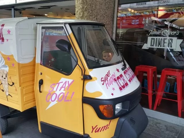 Jamie Oliver's Diner ice cream van