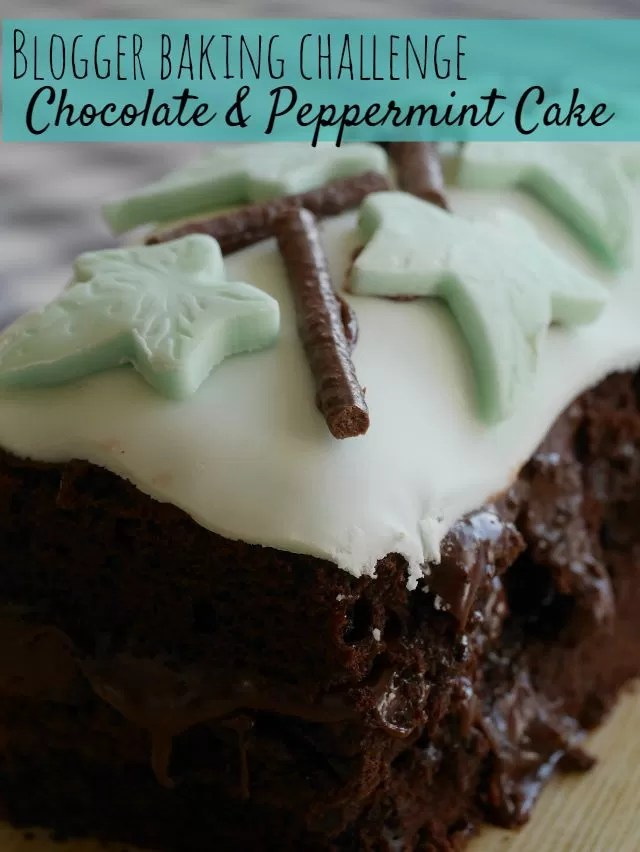 blogger baking challenge- chocolate & peppermint cake