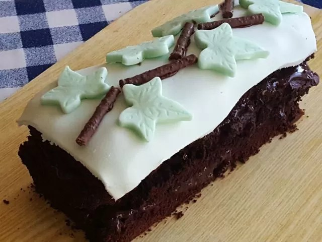 chocolate and peppermint cake
