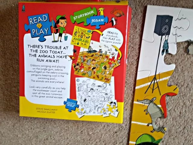 read and play book and jigsaw