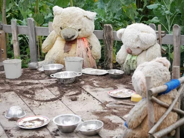 teddy bears picnic at PackWood house