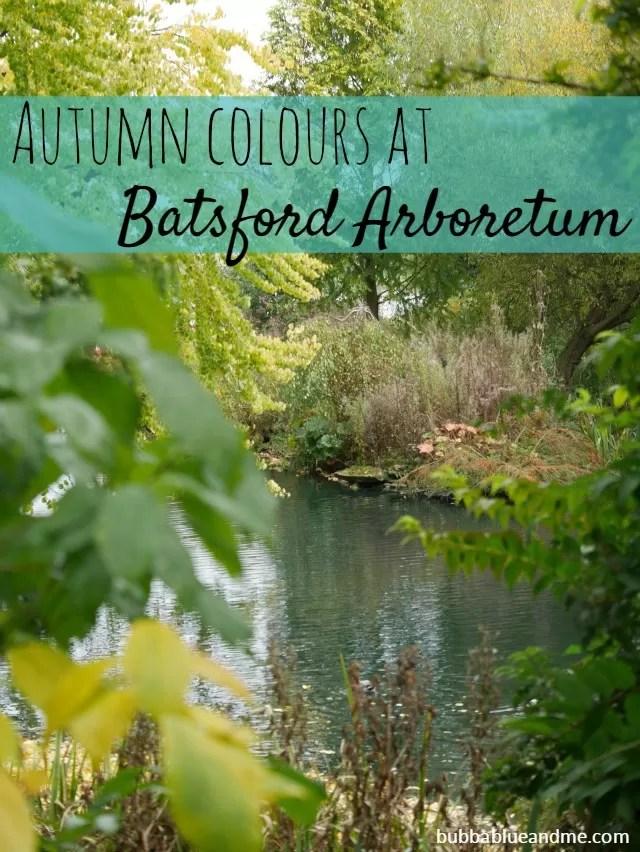Through the trees to Batsford Arboretum lake