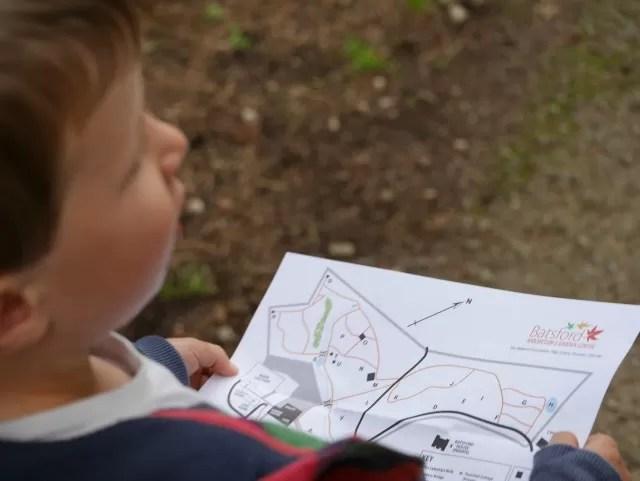 map of Batsford Arboretum