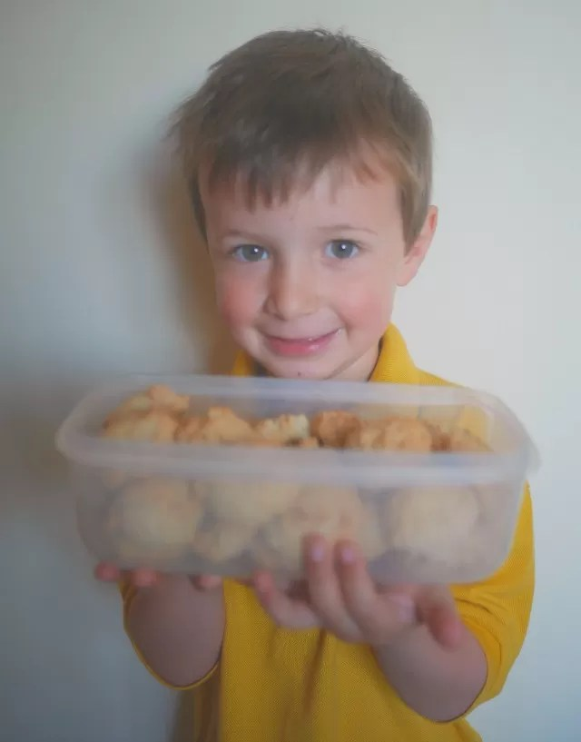 proud of the ginger macaroons he made