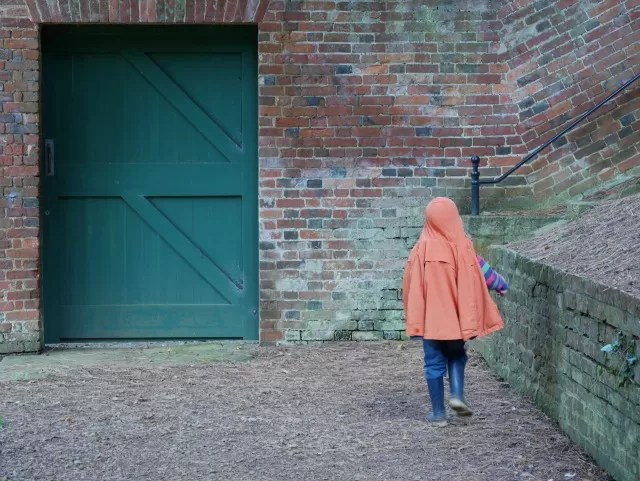 superhero cape aka coat at NT Upton house