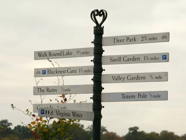 Signpost at Virginia Water