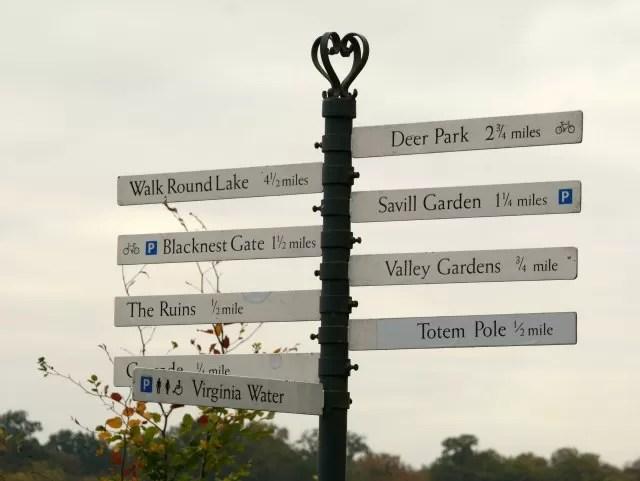 Signpost at Virginia Water