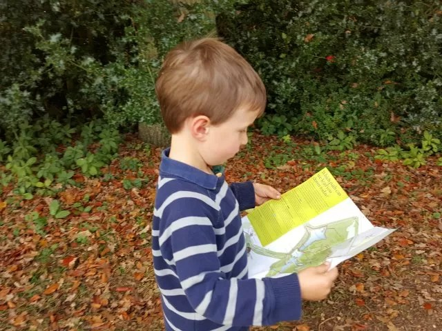checking the walking map of Stowe