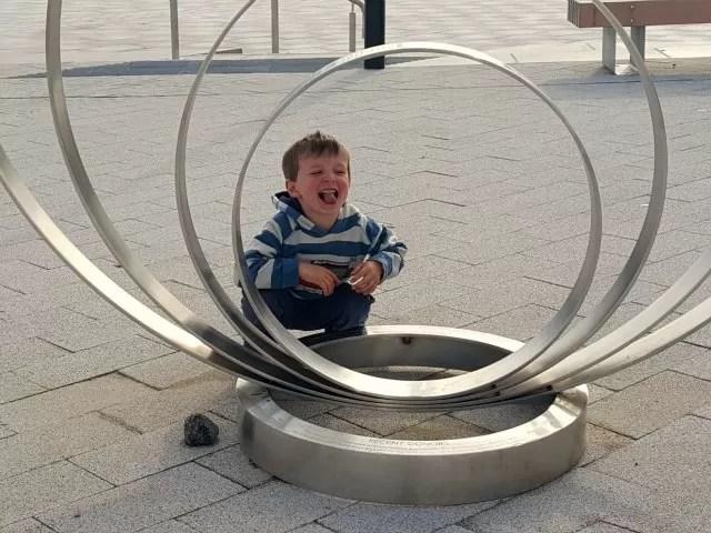circular sculpture at Warwick arts centre