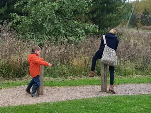 leapfrogging the posts at Conkers