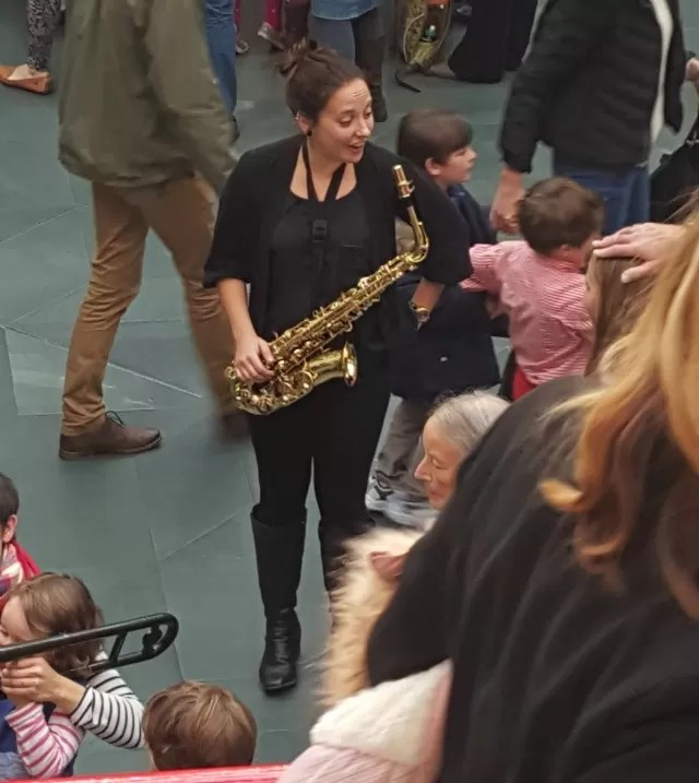 sax player at warwick arts centre