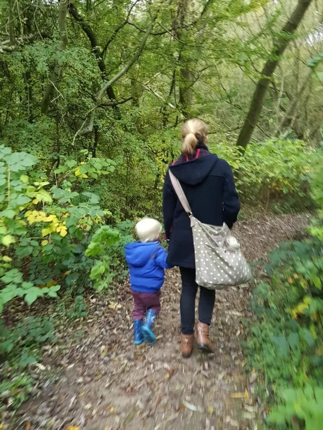 walking in the woods at Conkers