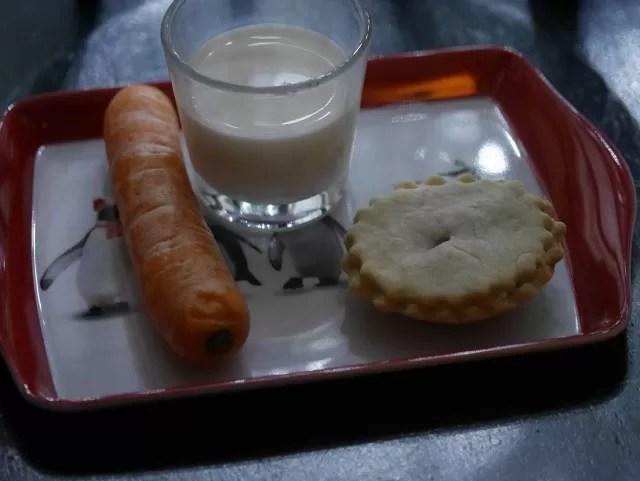 Santa's treats on a tray for Christmas eve
