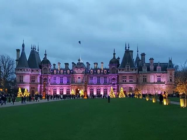 Waddesdon Manor's Christmas light display