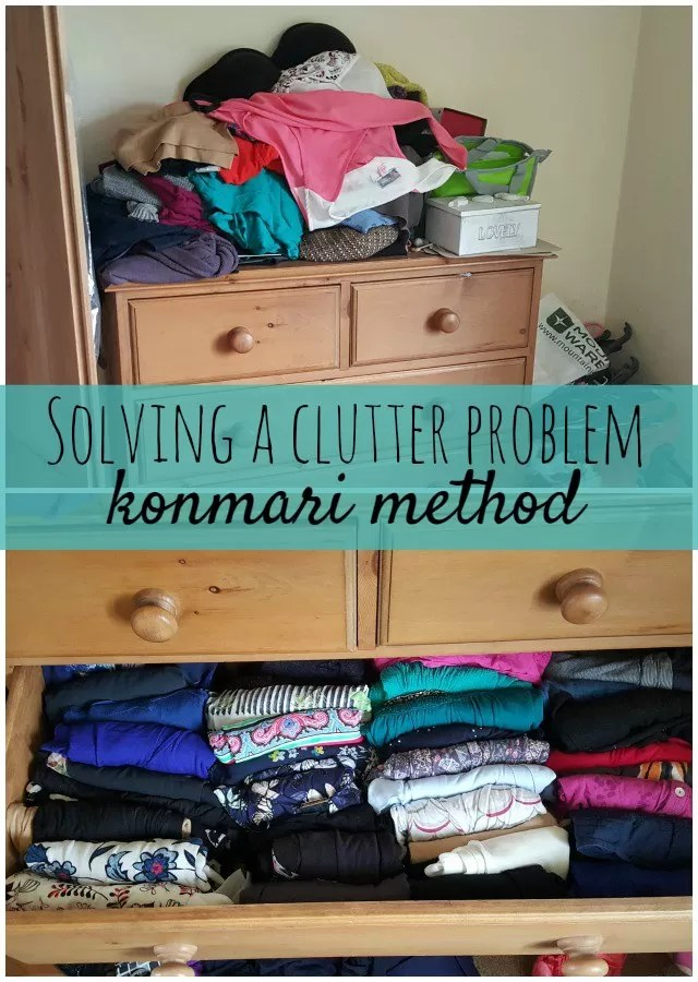 from this to this using the konmari method of decluttering and tidying - Bubbablueandme