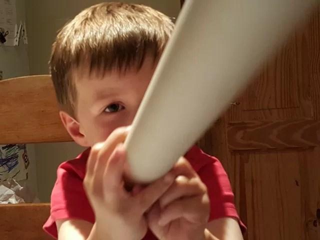 mucking around with cardboard tubes