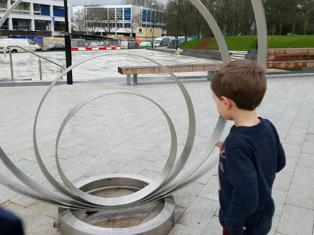 sculpture at Warwick university