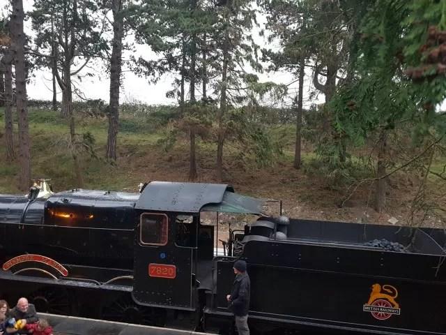 steam train on Gloucestershire railway